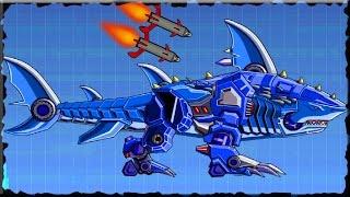 Robot Shark Vs Double Head T-Rex Game Walkthrough (Full Game)