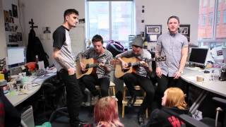 we came as romans a moment amp hope acoustic live in the kerrang office
