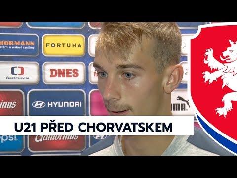 Reprezentace U21 před zápasem s Chorvatskem