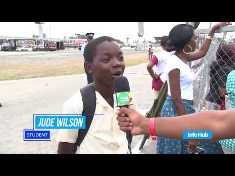 Crowd responses to Guyana's 52nd independence celebration