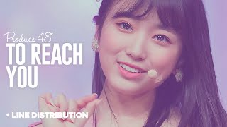 PRODUCE 48「To Reach You」Line Distribution