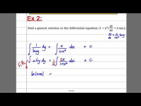 Integration (11) - Differential Equations (C4 Maths A-Level)
