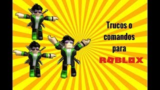 My first video (I think xD)-commands or tricks in ROBLOX
