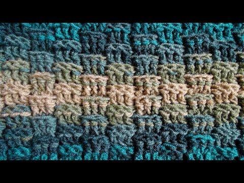 Basket Weave Stitch Version 1 - Right Handed Crochet Stitch Tutorial