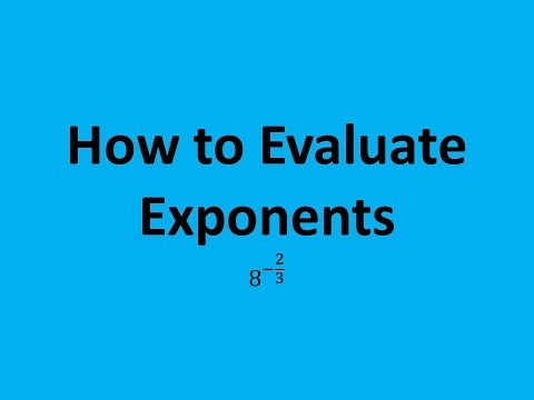 How to Evaluate Exponents (Expressions): 8^(-2/3)