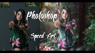 Photoshop Speed Art Wood nymph