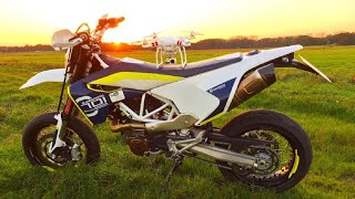 Husqvarna 701 Supermoto Burnout | DJI Phantom | LeoVince Exhaust | Puschel Lifestyle