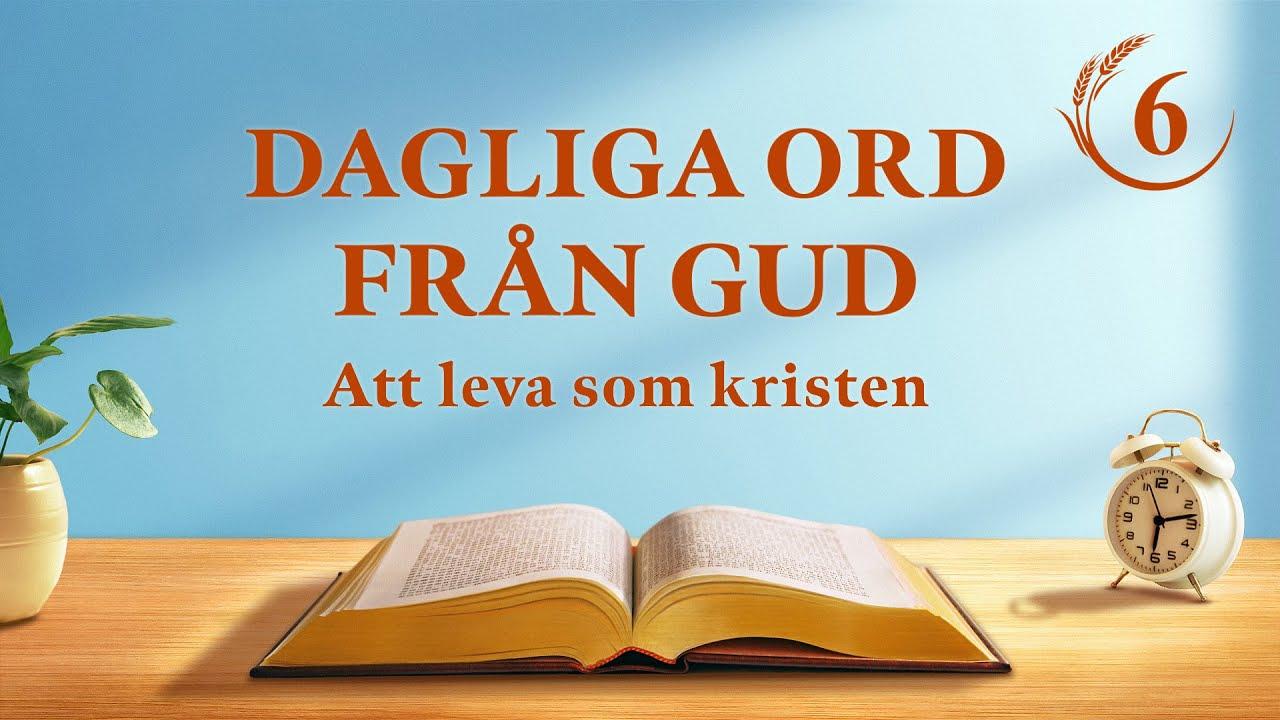 """Dagliga ord från Gud   """"Att känna till de tre stadierna i Guds verk är vägen till att känna Gud""""   Utdrag 6"""