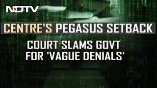 Supreme Court Rejects Centre's Arguments In Pegasus Case   Reality Check