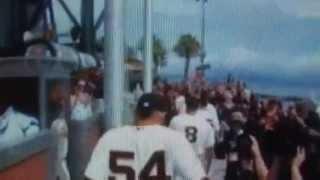 2012 San Francisco Giants World Series Championship Flag Raising Ceremony