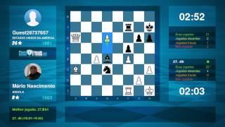 Chess Game Analysis: Mário Nascimento - Guest28737657 : 1-0 (By ChessFriends.com)