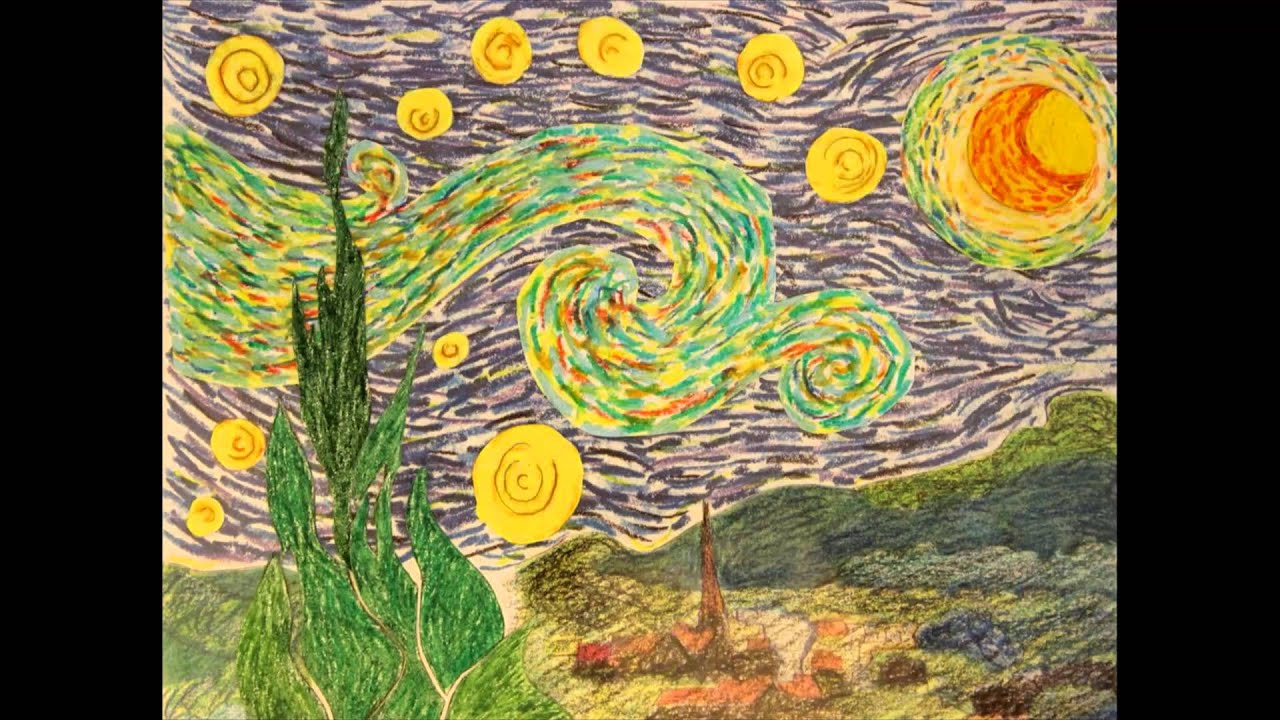 Interpretazione di notte stellata di van gogh stop for Dipinto di van gogh notte stellata
