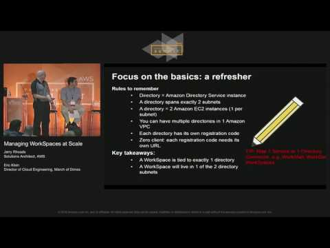 Managing WorkSpaces at Scale | AWS Public Sector Summit 2016