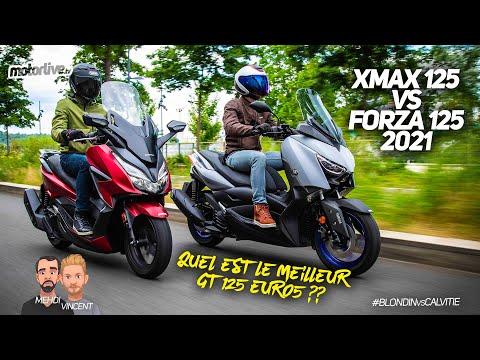 YAMAHA XMAX 125 vs HONDA FORZA 125 l DUEL MOTORLIVE