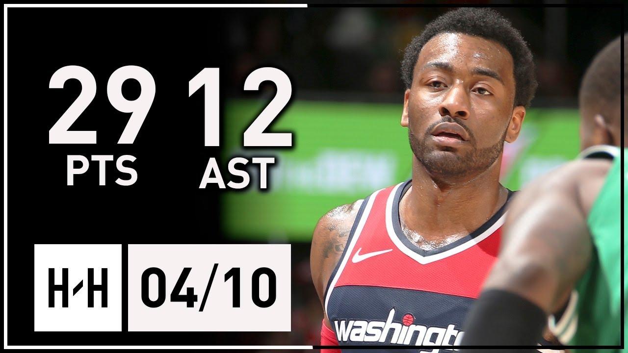 9326981c4 John Wall Full Highlights Wizards vs Celtics (2018.04.10) - 29 Points