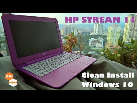 HP Stream 11 Clean Install Windows 10