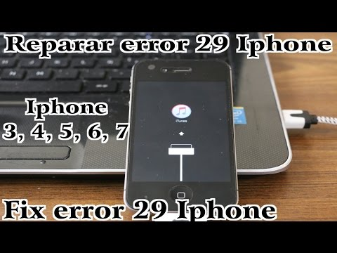 Error 29 Itunes Iphone, Ipod, Ipad