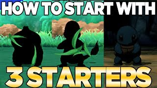 How to Get 3 Starters in Pokemon Ultra Sun & Moon