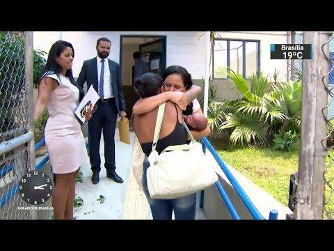 Mãe presa com filho recém-nascido ganha direito à prisão domiciliar | SBT Notícias (24/02/18)