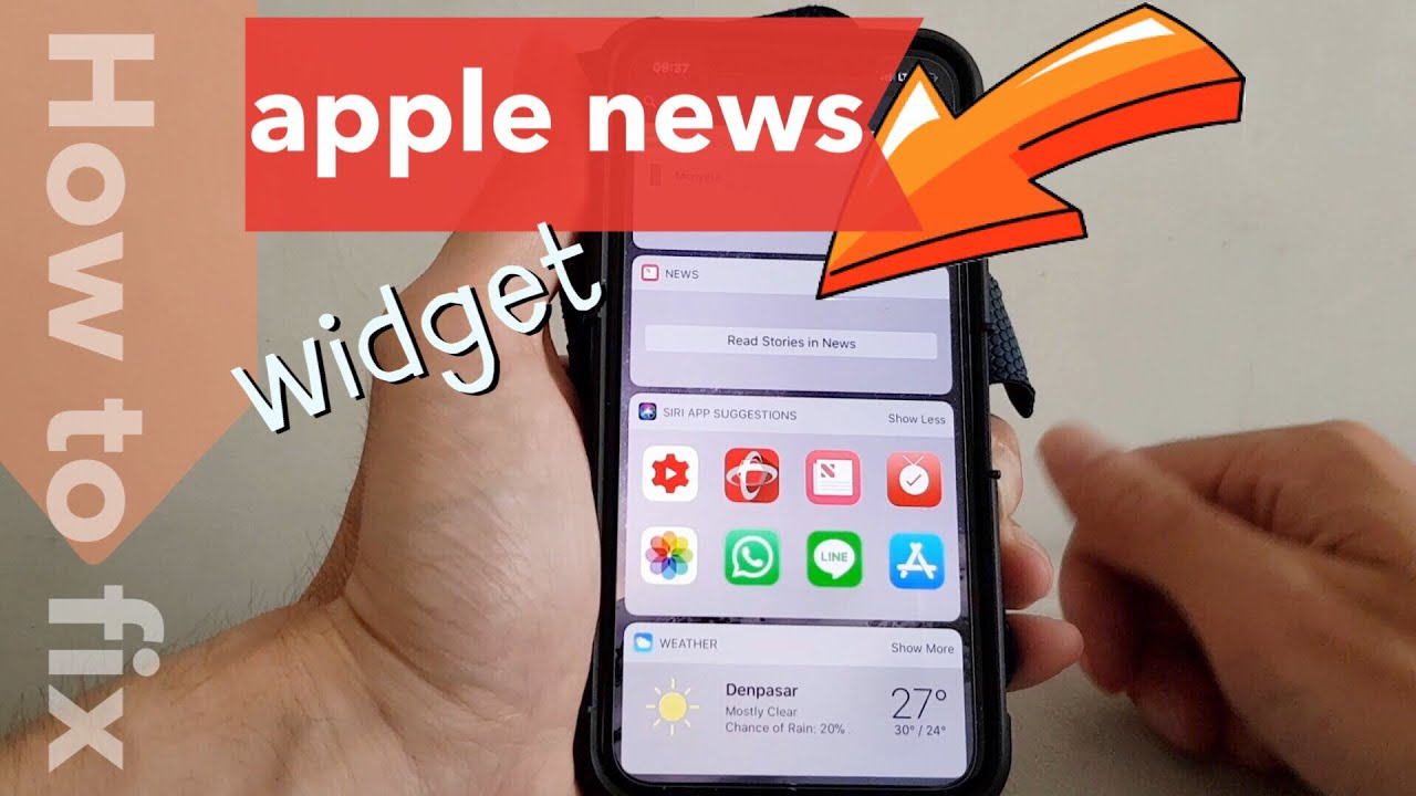 How To Fix Apple News Widget Stories Not Displaying Any Contents On The Iphone Youtube