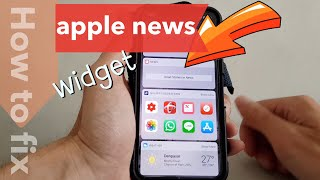 Gambar cover how to fix apple news widget stories not displaying any contents on the iPhone