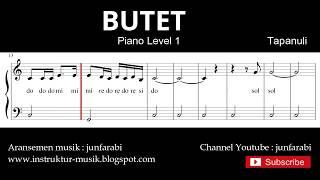not balok butet - piano level 1 - lagu daerah tapanuli / batak - do re mi / solmisasi
