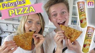 Pringles Pizza | komplett aus Pringles mit Käse | DIY marieland