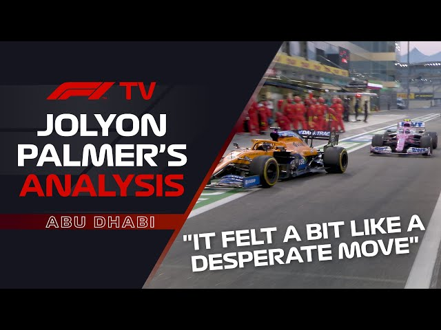 How The Team Battle For 3rd Was Won | Jolyon Palmer Analysis | 2020 Abu Dhabi Grand Prix