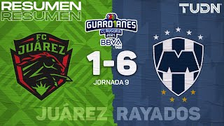 Resumen y goles   FC Juárez 1-6 Rayados   Torneo Guard1anes 2021 BBVA MX J9   TUDN
