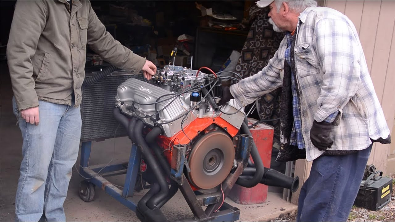 Firing Up A Brand New Chevy 409 Engine