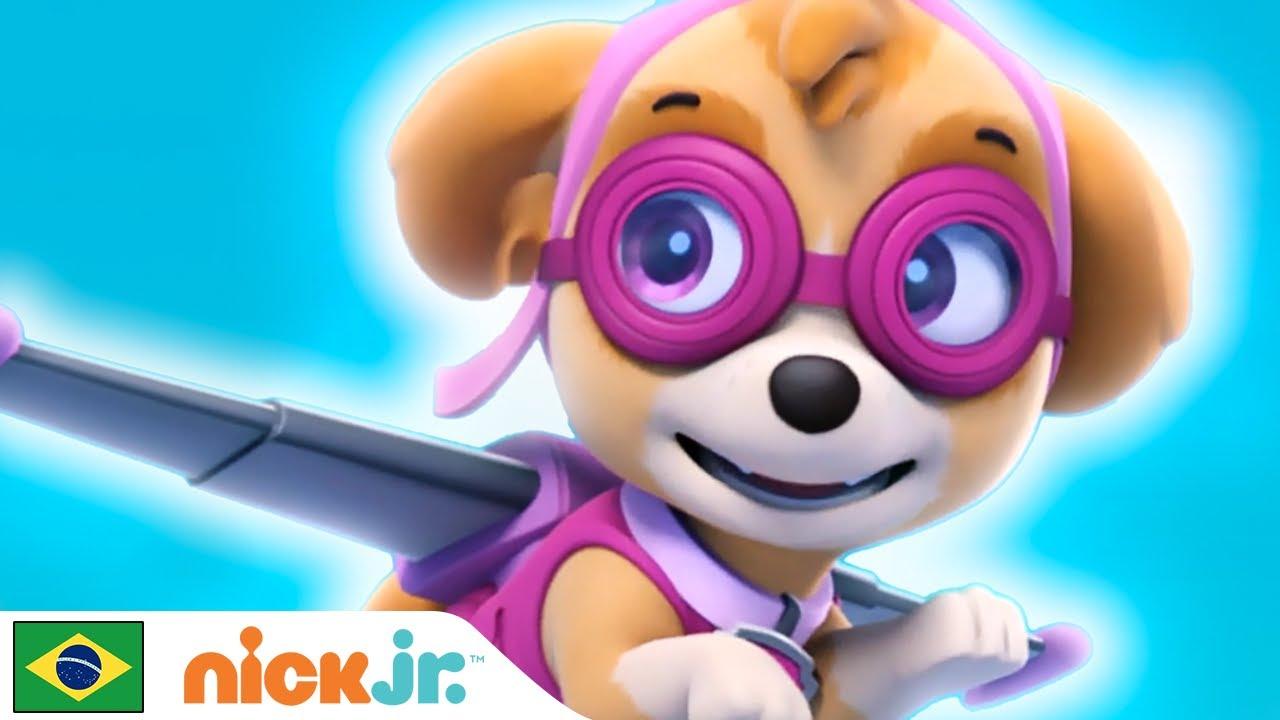 Patrulha Canina | 🌸 O Melhor da Skye 🌸 | Nick Jr. em Português