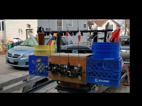 Ice Fishing Snowmobile Setup -