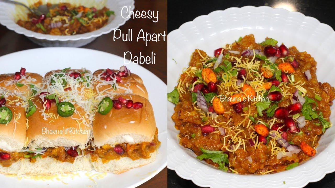 Cheesy Pull Apart Dabeli Video Recipe | Kutchi Dabeli Bhavna's Kitchen