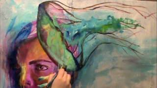"""""""let your mind be free"""" by KAB - time lapse painting"""