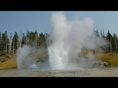 Grand Geyser Eruption Yellowstone National Park
