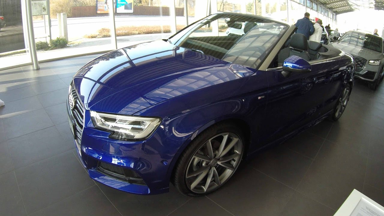 audi a3 cabriolet s line facelift model 2017 walkaround interior virtual cockpit. Black Bedroom Furniture Sets. Home Design Ideas
