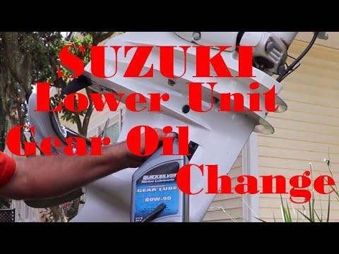 Suzuki Lower Unit Gear Oil Change