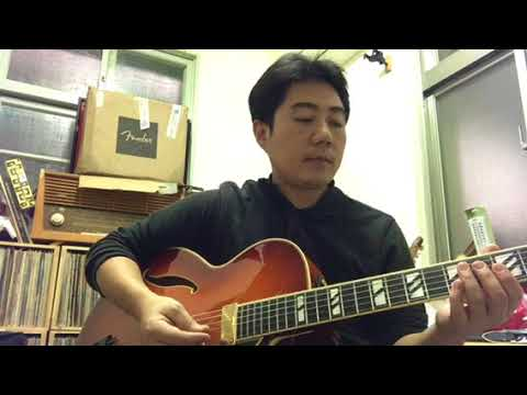 easy chord melody style in 1-6-2-5 for jazz guitar