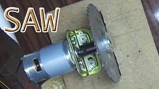 Table Saw Upgrade -#Saw2  - Tezgah testere güçlendime - 12 volt DC 775 motor