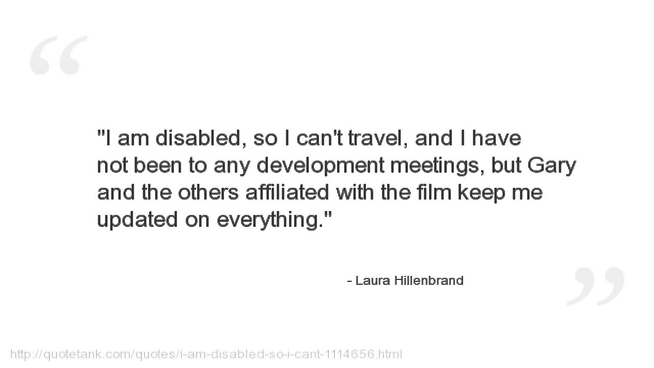 Unbroken Quotes Endearing Laura Hillenbrand Quotes  Youtube