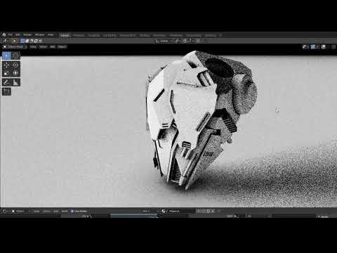 Scifi Helmet Speed Modeling - Grid Modeler (blender addon)