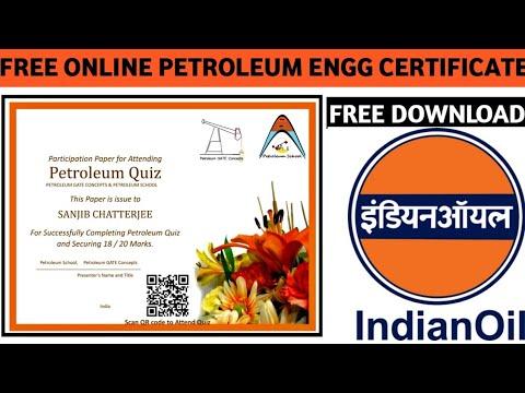 FREE Online Petroleum ENGG Certificate | Free Indian Oil Certificate | Varified Certificate Online21