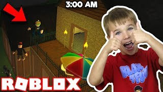 SNEAKING INTO NEIGHBORS HOUSE AT 3AM in ROBLOX BLOXBURG