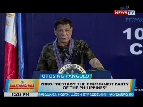 PRRD: 'Destroy the Communist Party of the Philippines'