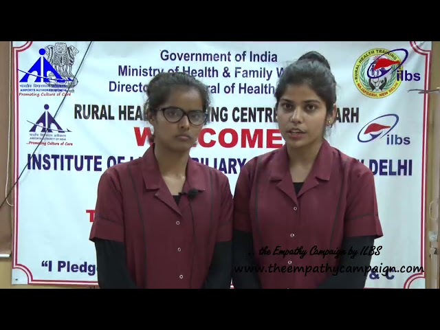 Students of #RHTC talked about #HepatitisB Vaccination during IPledge initiative by #ILBS