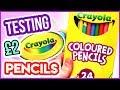 TESTING CHEAP CRAYOLA COLOURED PENCILS ! WORST Coloured Pencils EVER?