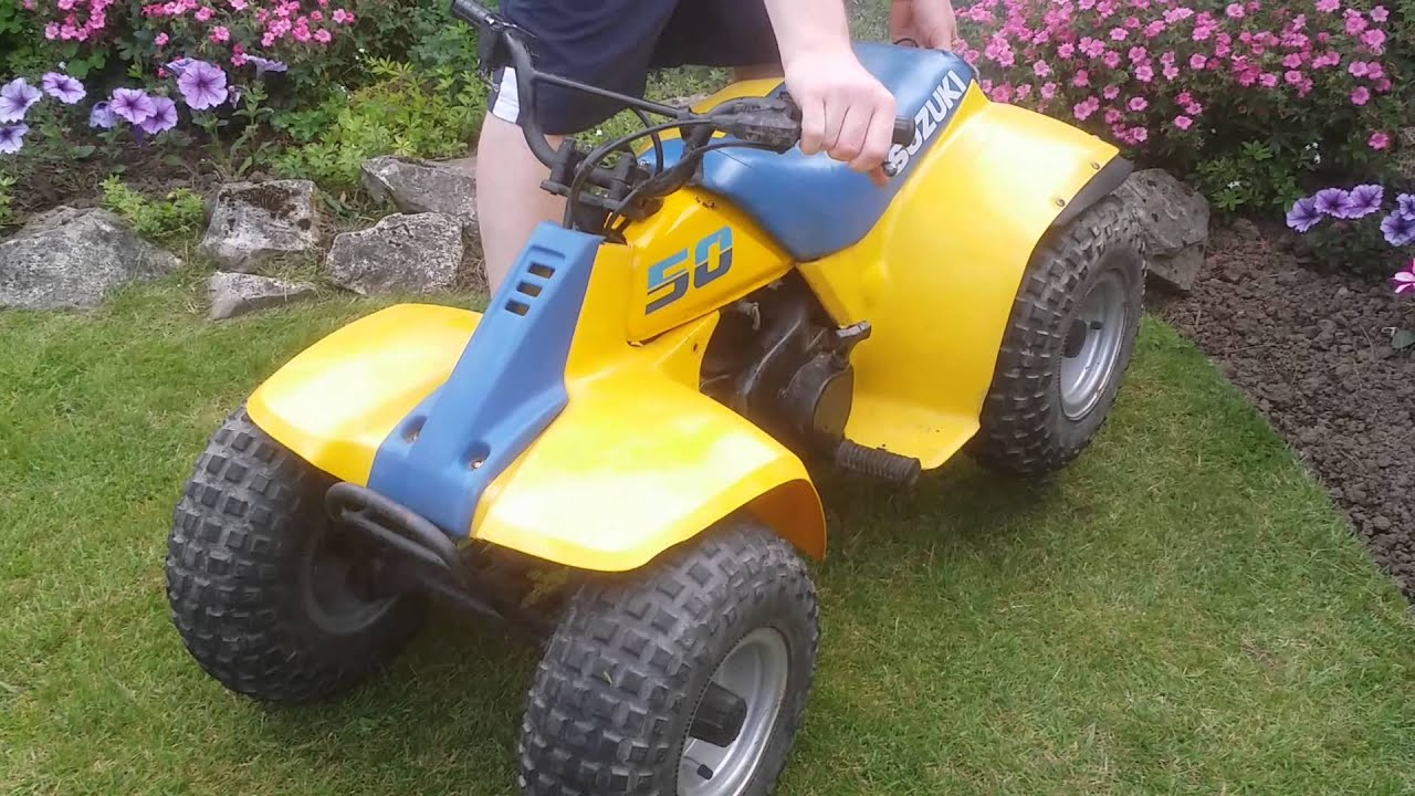 Suzuki lt50 quad bike kids 50cc quad for sale - YouTube
