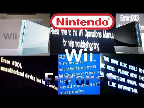 Nintendo Wii All Errors! + forgotten Xbox One Error (REUPLOAD)