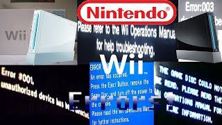 Nintendo Wii All Errors! + forgotten Xbox One Error