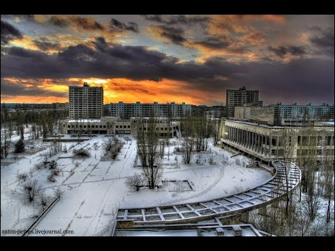 Pripyat Chernobyl Ukraine The winter view from the